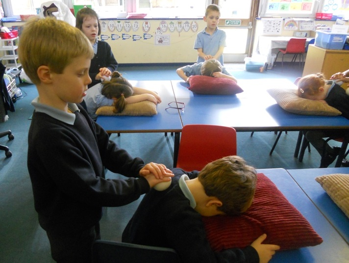 Massage in the classroom